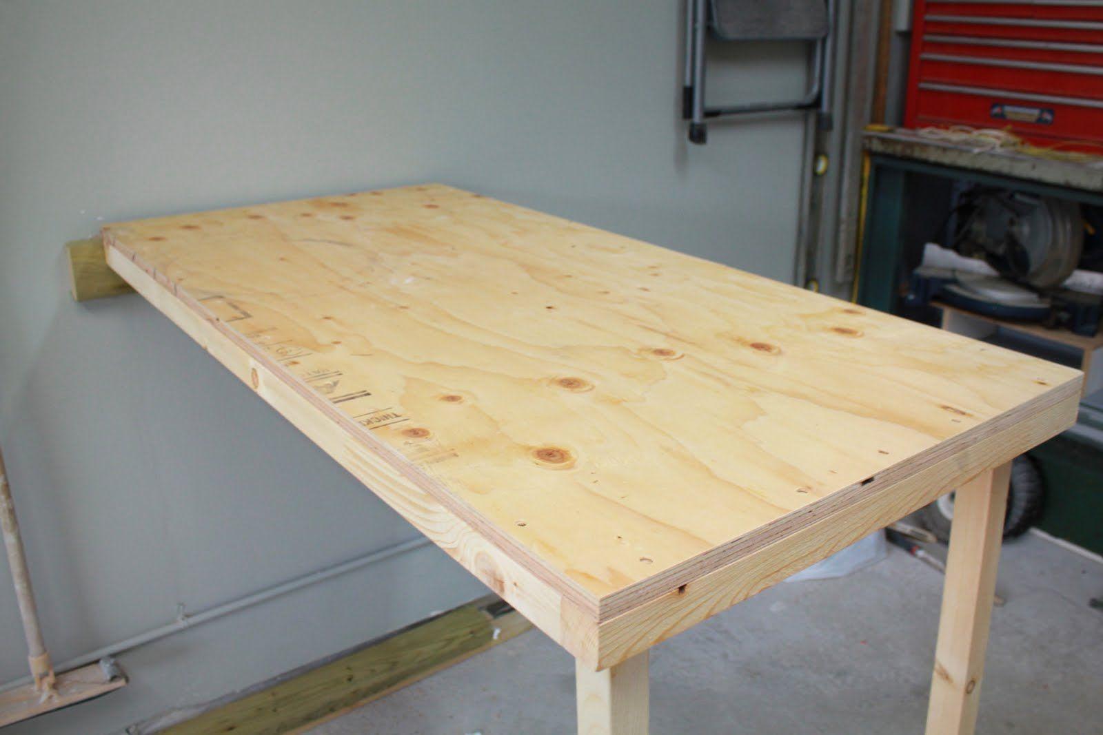 Foldup Garage Worktable Woodworking furniture, Fold up