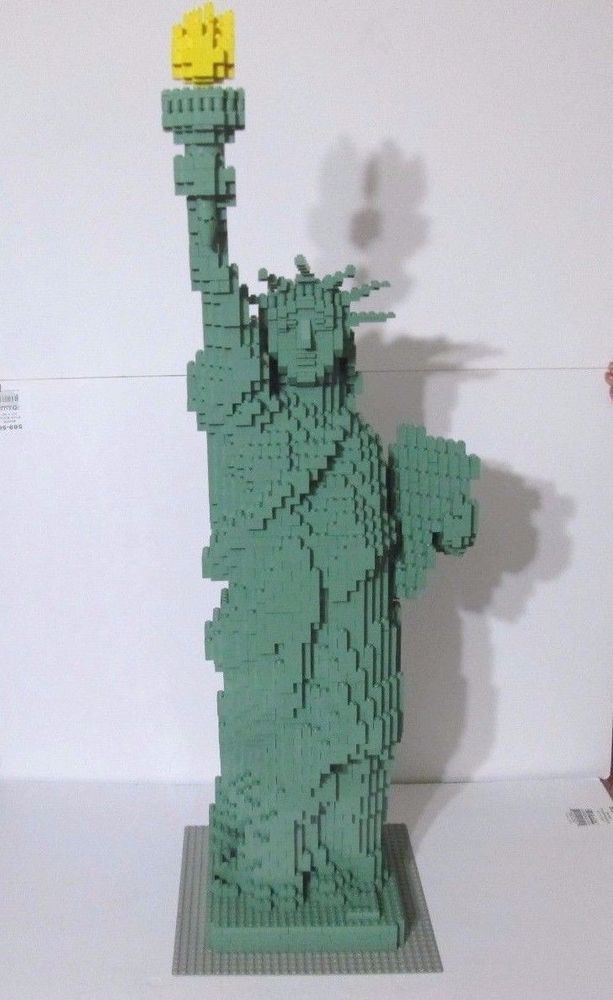 Lego Sculptures Statue Of Liberty 3450 100 Complete W