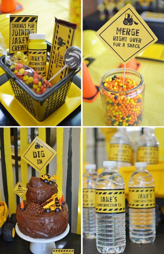 Diy Printable Collection Construction Party Etsy Construction Party Construction Theme Birthday Party Construction Birthday Parties