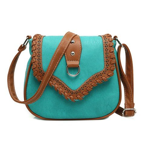 a31aa4eaf5d68 Stylish Women s crossbody Bag With Weaving and Hollow Out Design ...