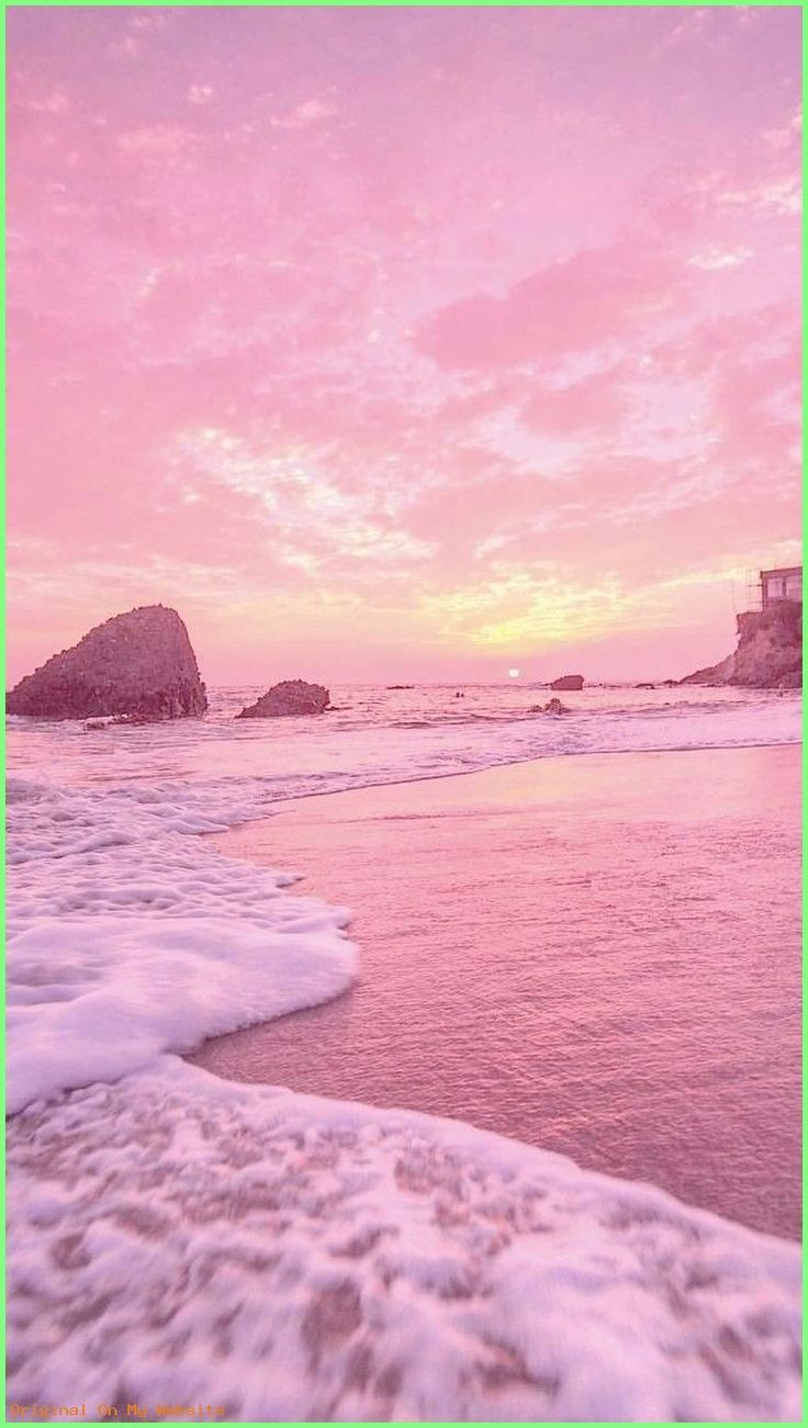 Wallpaper Iphone Sunset With Pastel Pink Yellow Vibes 90s Retro