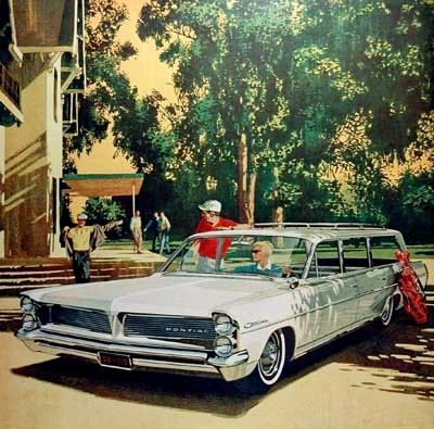 The artwork of Art Fitzpatrick and Van Kaufman  Pontiac Advertisement Illustrati…