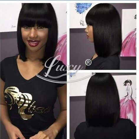 Egyptian Bob Long Hair Styles Straight Hairstyles Wigs With Bangs