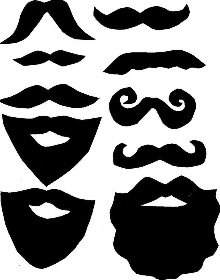 DIY Photo Booth Moustache and Beard Props with Printable | Diy photo ...