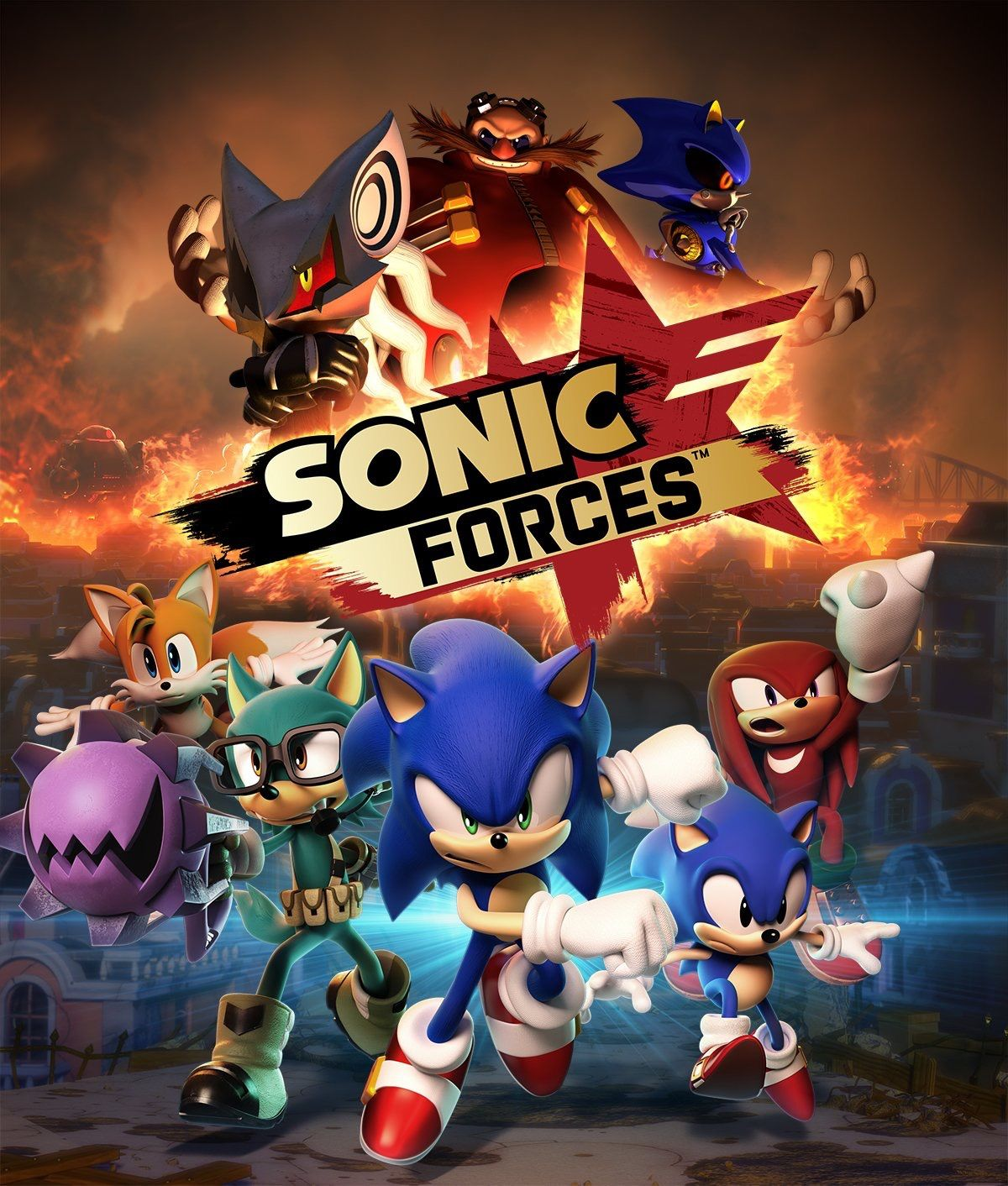 Clean Sonic Forces key art with clearer look at new unknown villain (also provided by Sega)