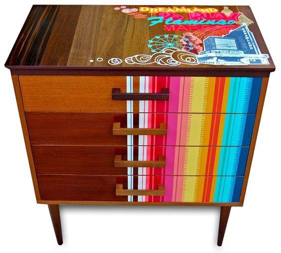 Painted furniture   Zoe Murphy   Honey of California ZINE