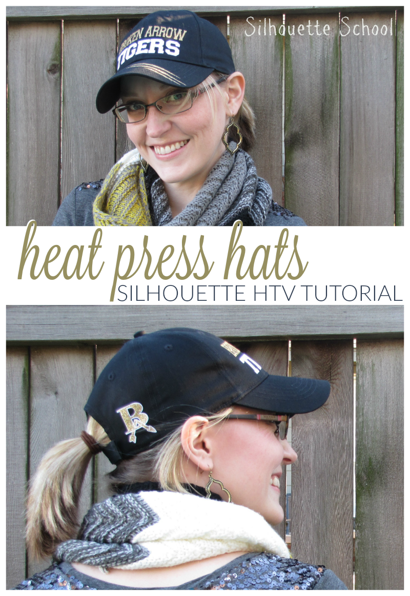 How To Heat Press A Hat No Special Attachment Needed Silhouette Htv Tutorial Silhouette School Silhouette Heat Press Projects