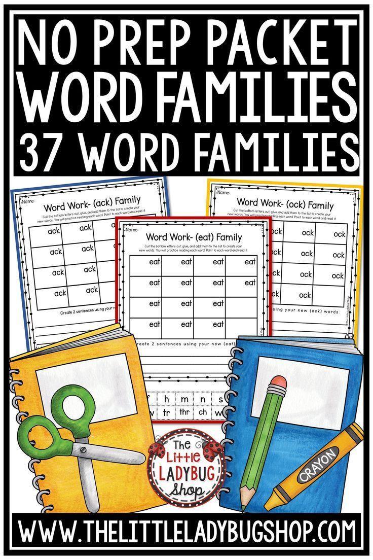 medium resolution of Word Families Activities 1st Grade
