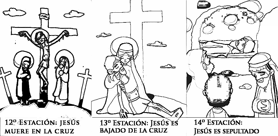 Dibujos colorear vía crucis para niños. | Pascua | Pinterest | Via ...