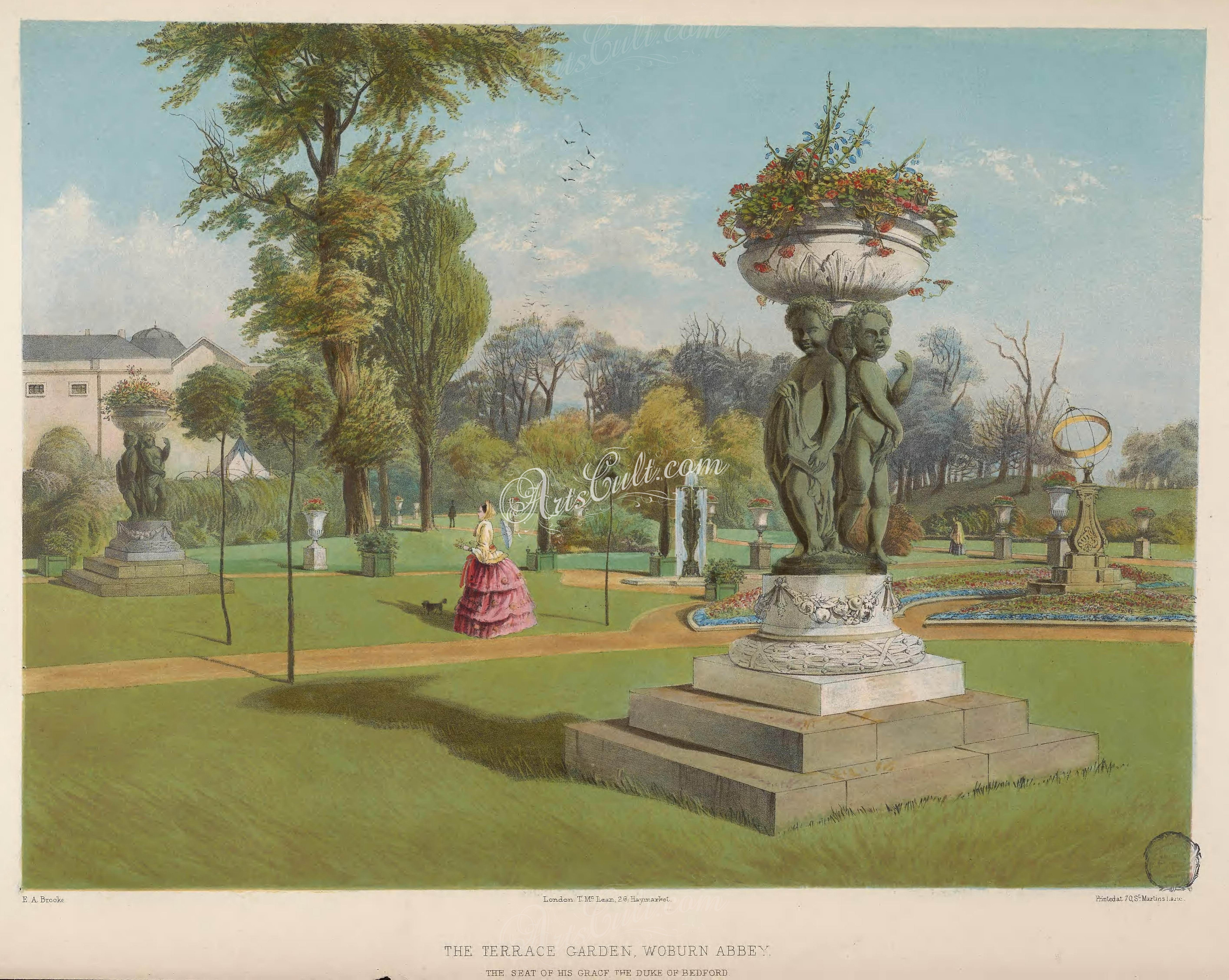 The Terrace Garden, Woburn Abbey      ...