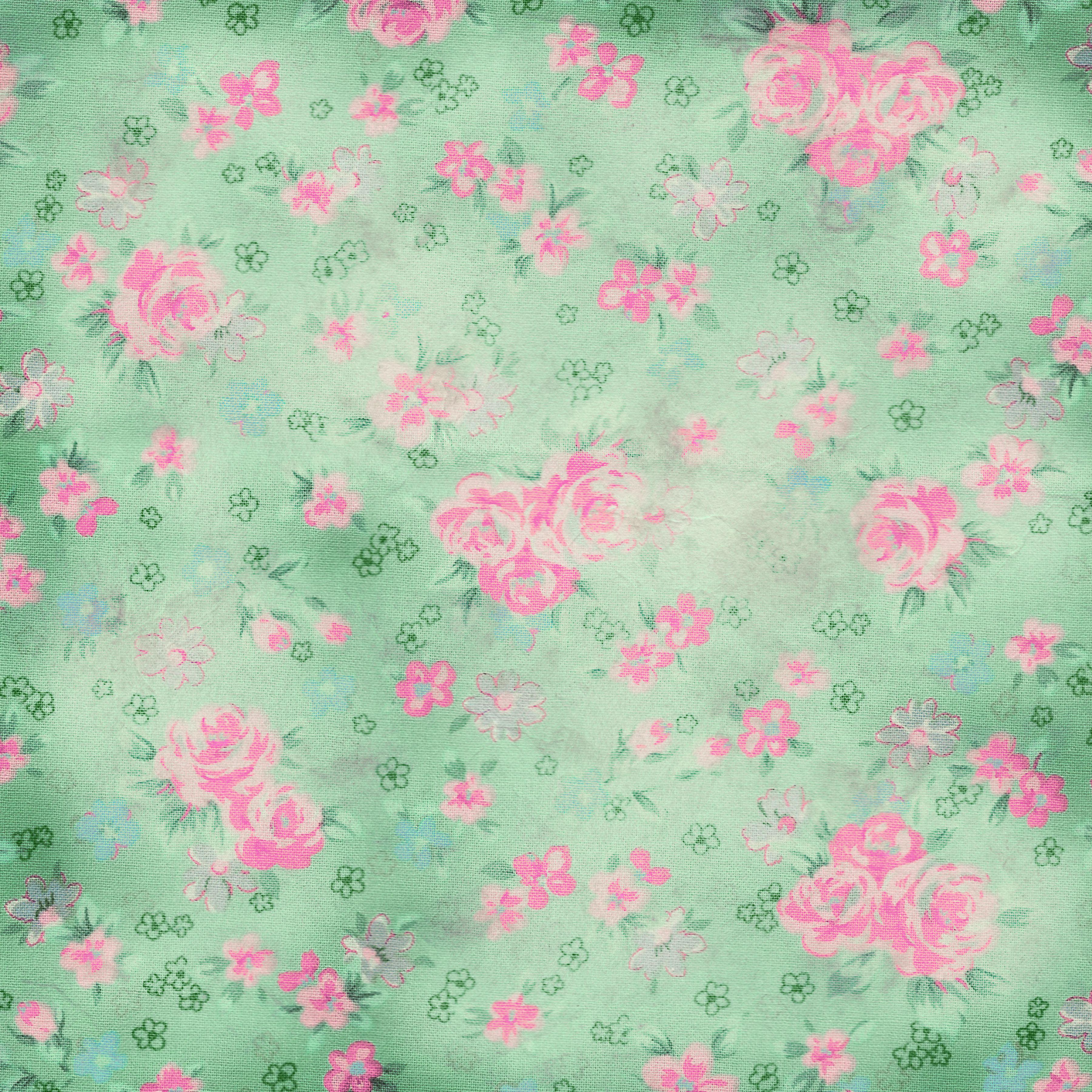Vintage Flower Scrapbook Paper Trisaorddiner