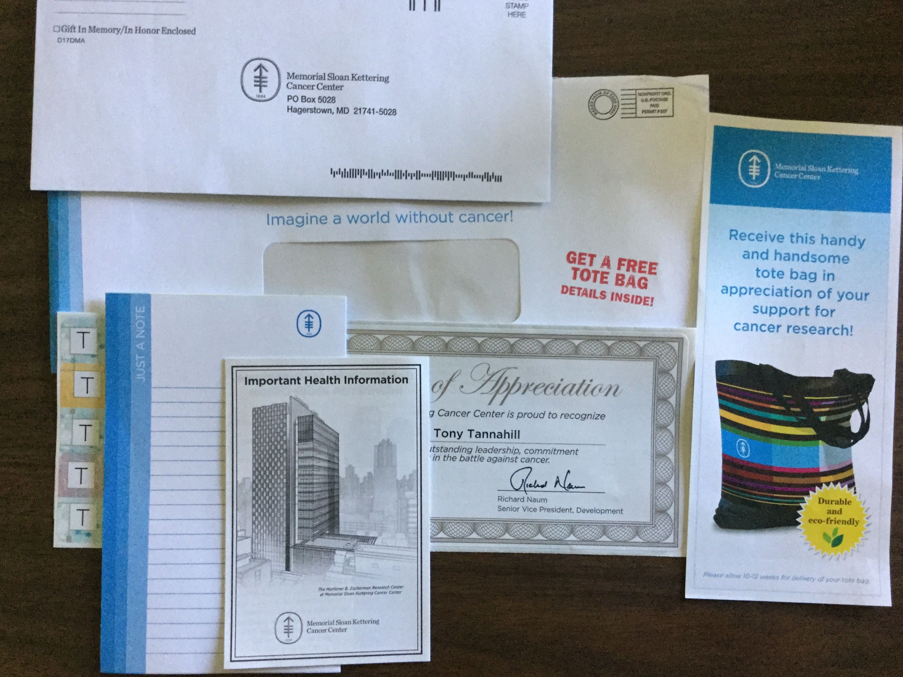 Free Address Labels Samples Free Memorial Sloan Kettering Cancer Center Note Pad And Address .