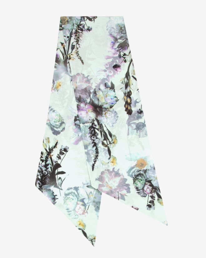 06e4be28e0627 ... Torchlit Floral skinny scarf - Pale Green Scarves Ted Baker 50% off  b621a eb5d1 ...