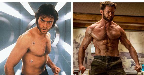 Hugh Jackman As The Wolverine 2000 Vs 2013 Pic Hugh Jackman Hugh Jackman Wolverine Workout Wolverine Hugh Jackman