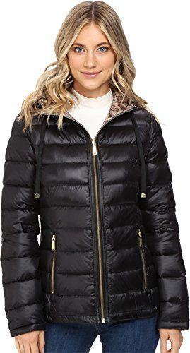 cb7257443 Calvin Klein Womens Reversible Short Hooded Packable Down ...