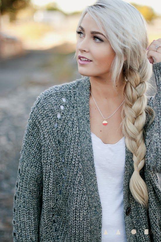 Chunky Braid Chunky Sweater Cara Loren Hairspirations