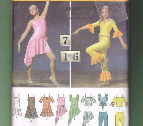 Girl\'s Knit Jazz Dance Dress Costumes/ Simplicity 4315 Modern, Salsa ...