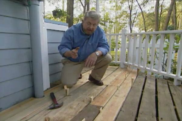 Learn how to replace a downspout and repair deck boards. | Decks ...
