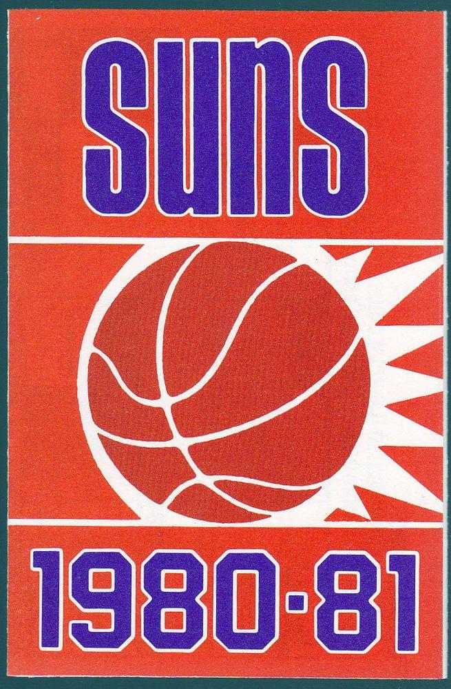 1980 81 PHOENIX SUNS BLUE CROSS KTAR 620 BASKETBALL POCKET SCHEDULE FREE SHIP