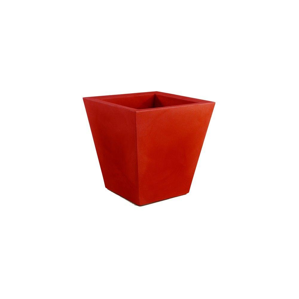Macetero cono cuadrado Fang rojo (40x40x40cm)