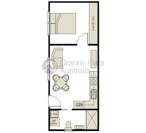1 Bedroom Granny Flat Granny Flats Australia Add Affiliate Dreamhome Grannyflat In 2020 Small House Plans Tiny House Floor Plans Garage Conversion Granny Flat