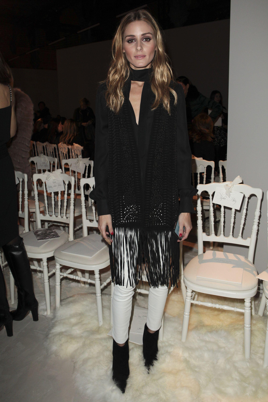 Olivia Palermo on the front row at Giambattista Valli Spring 2016 Couture