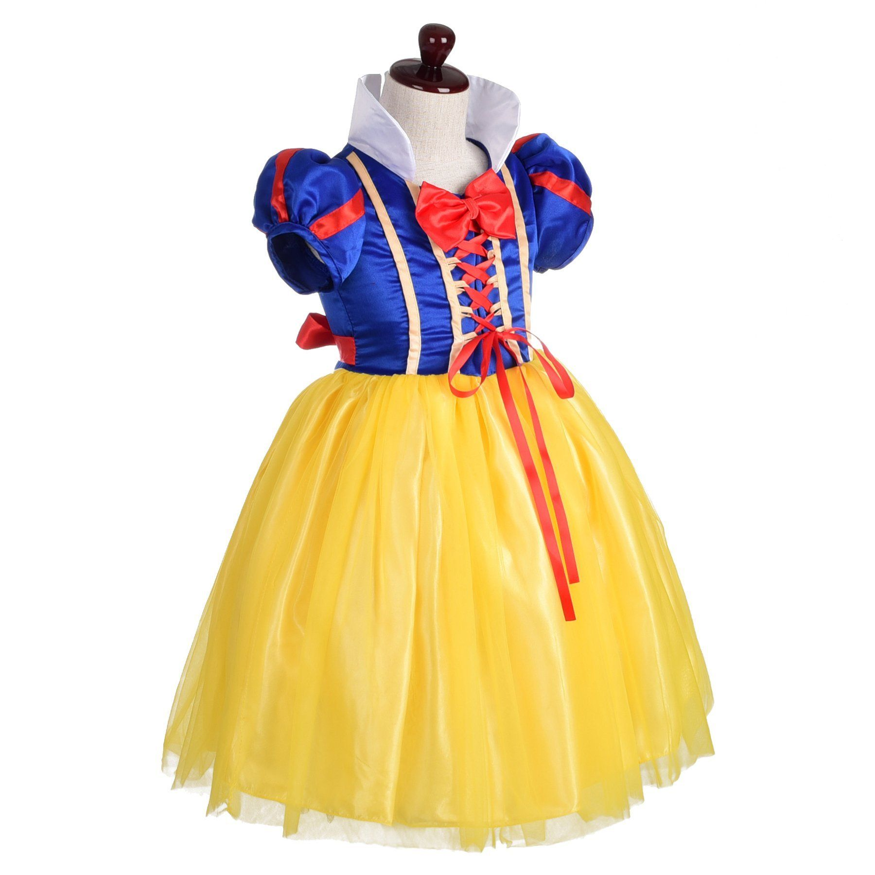 Kids Girls Snow White Princess Long Gown Fancy Party Dress Costume Christmas 3PC