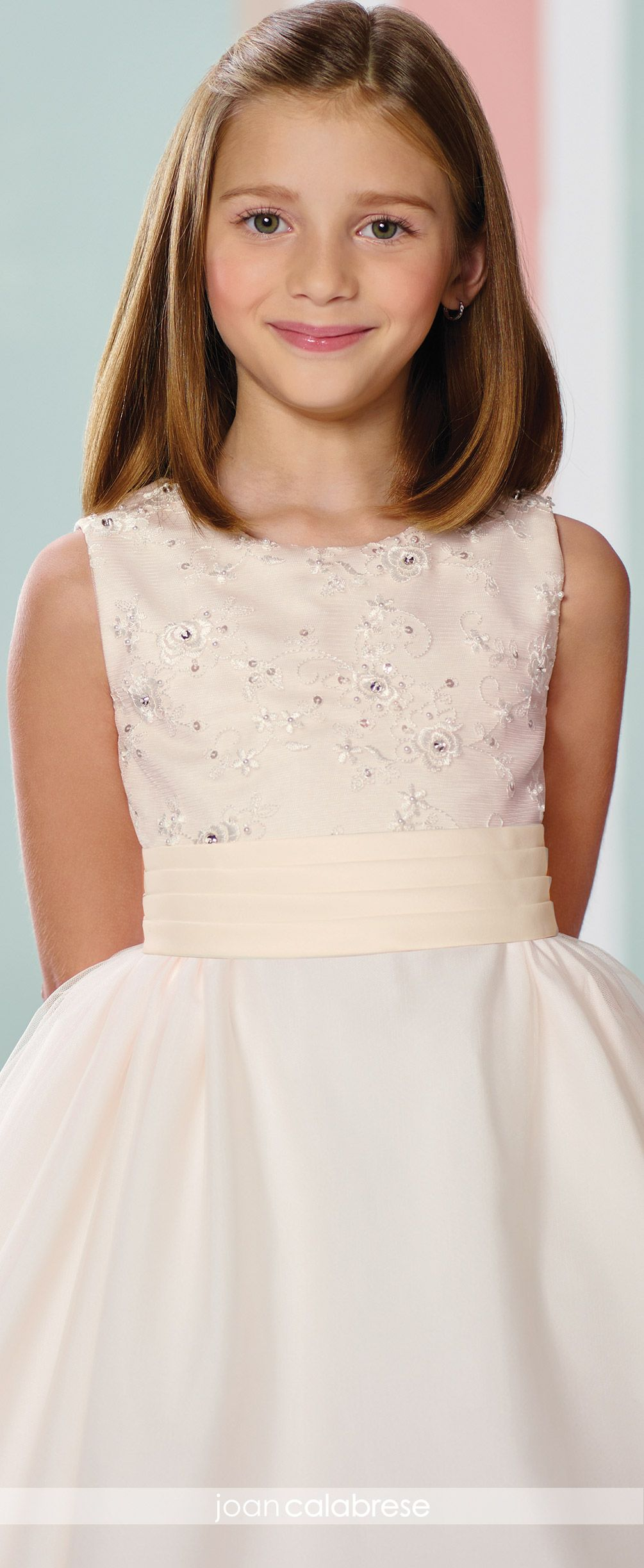 fef45712ce Two Piece Satin Tulle   Lace First Communion Flower Girl Dress- 216312