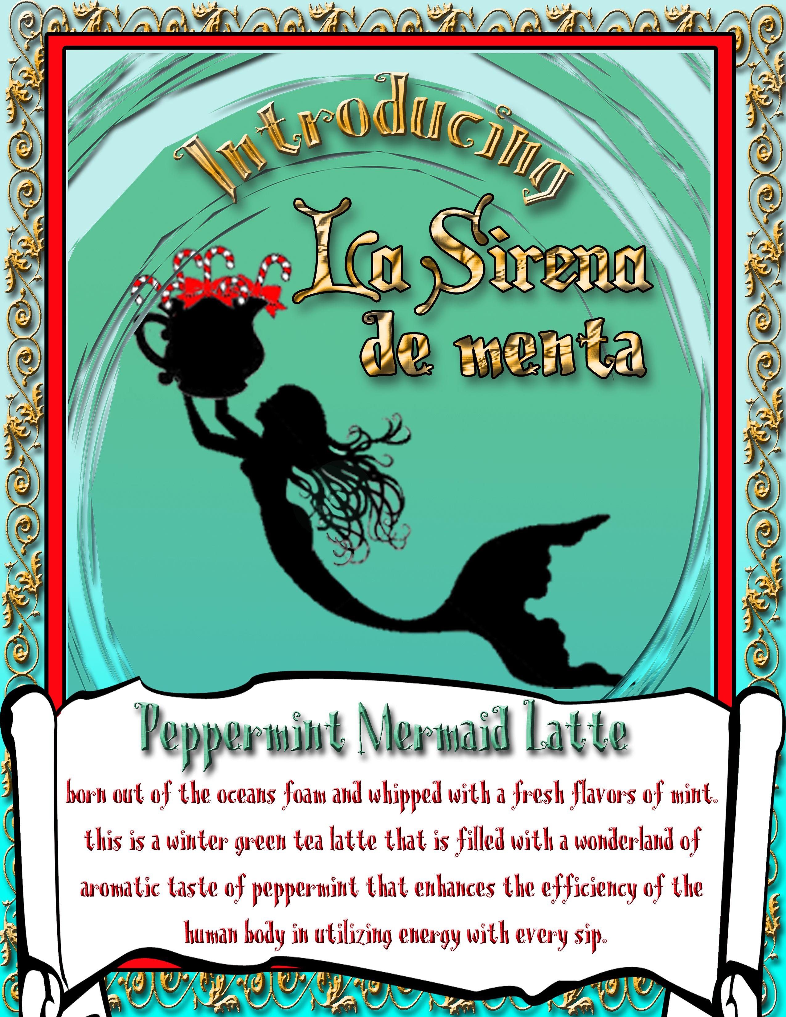 La Sirena de Menta green tea peppermint latte