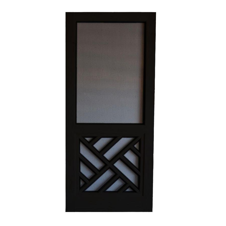 Screen Chippendale Black Wood Door Common 36 In X 80 Actual