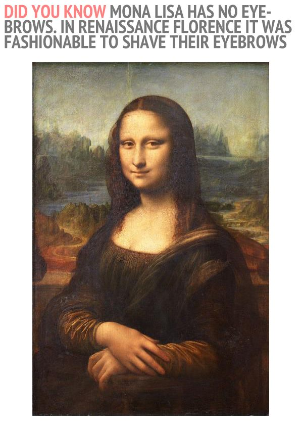 Dyk 000046 Mona Lisa Has No Eyebrows In Renaissance Florence It