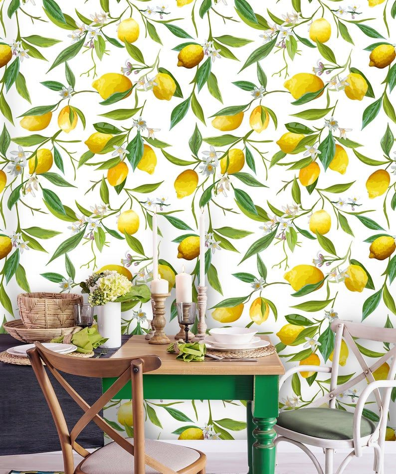 Removable Wallpaper Peel And Stick Floral Wallpaper Pattern Etsy Tropical Wallpaper Floral Pattern Wallpaper Floral Wallpaper