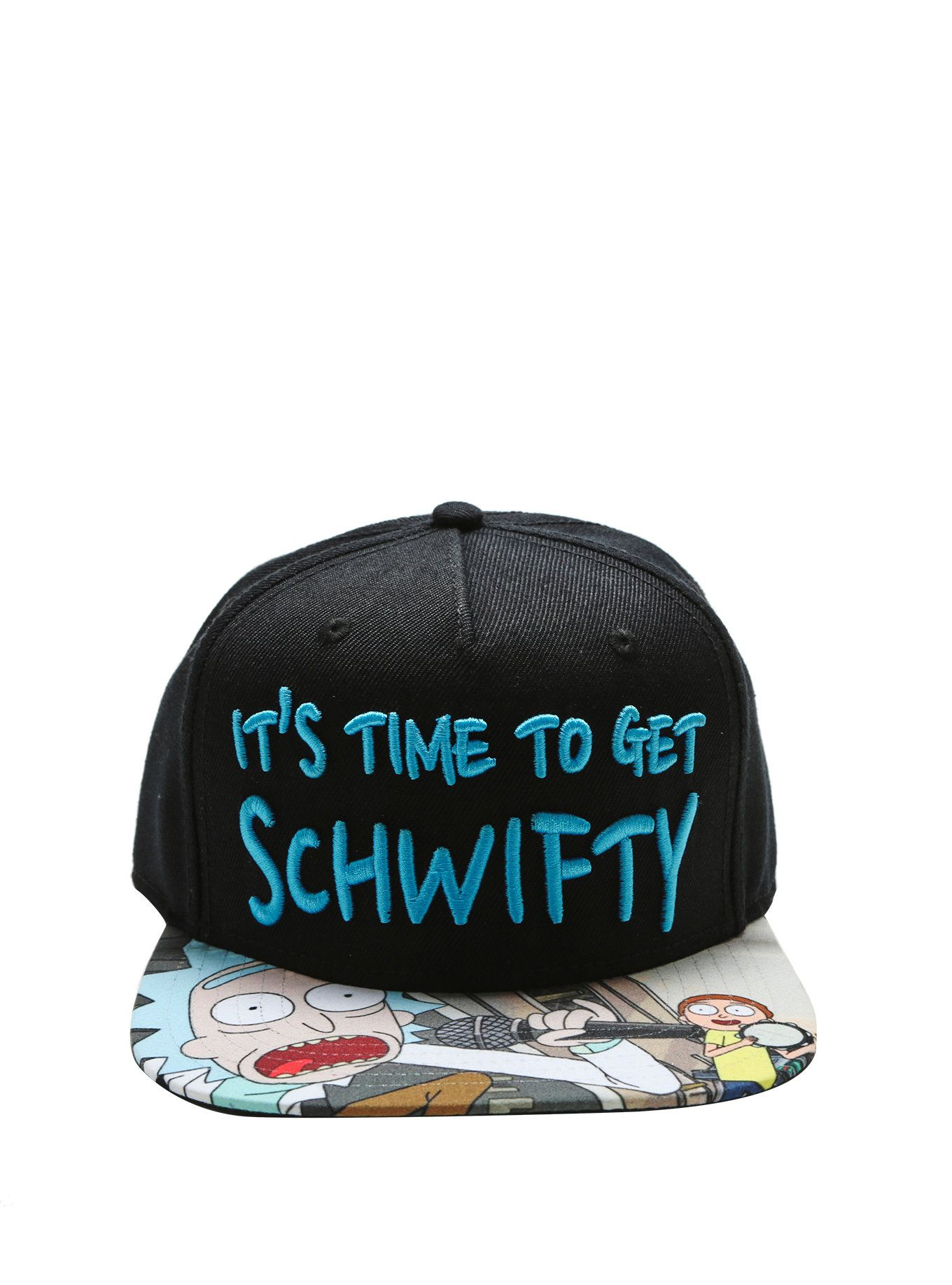 efa354327f517 Rick And Morty It s Time To Get Schwifty Snapback Hat