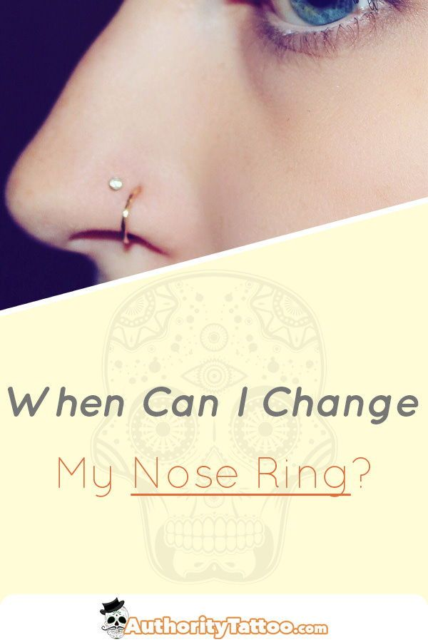 When Can I Change My Nose Ring Nose Piercing Care Cute Nose