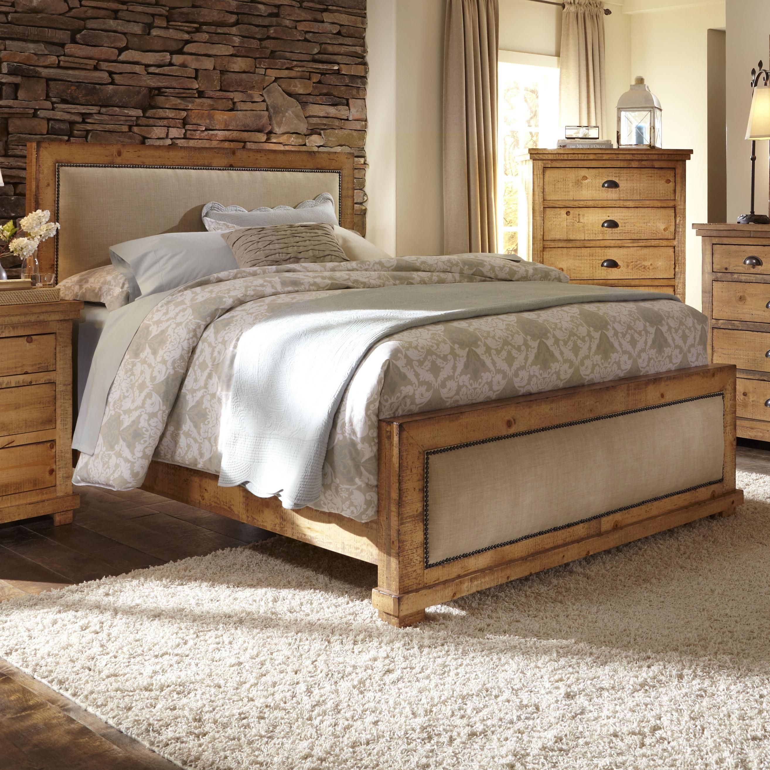 Willow Queen Upholstered Bed by Progressive Furniture