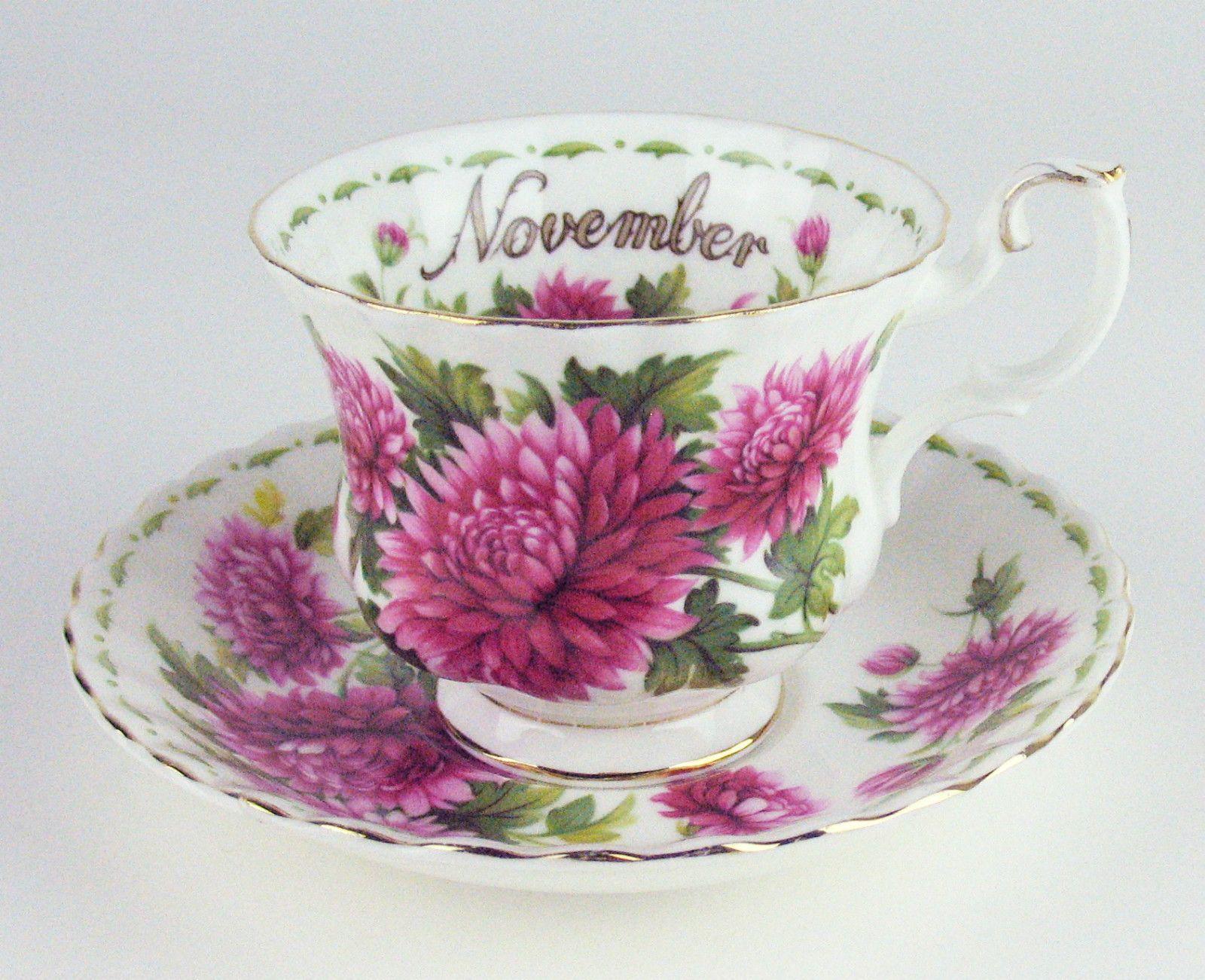 Vintage Royal Albert Teacup & Saucer Flower of the Month