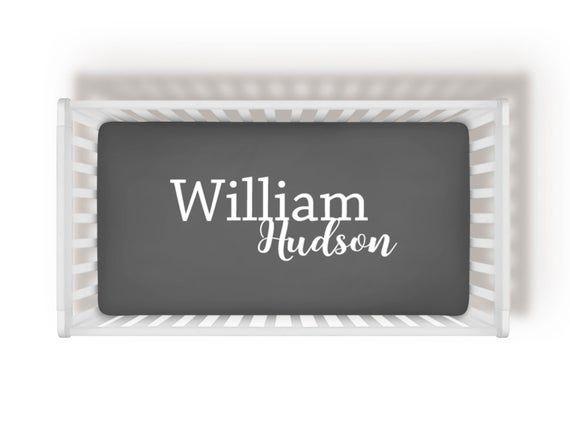 Custom Name Crib Sheet