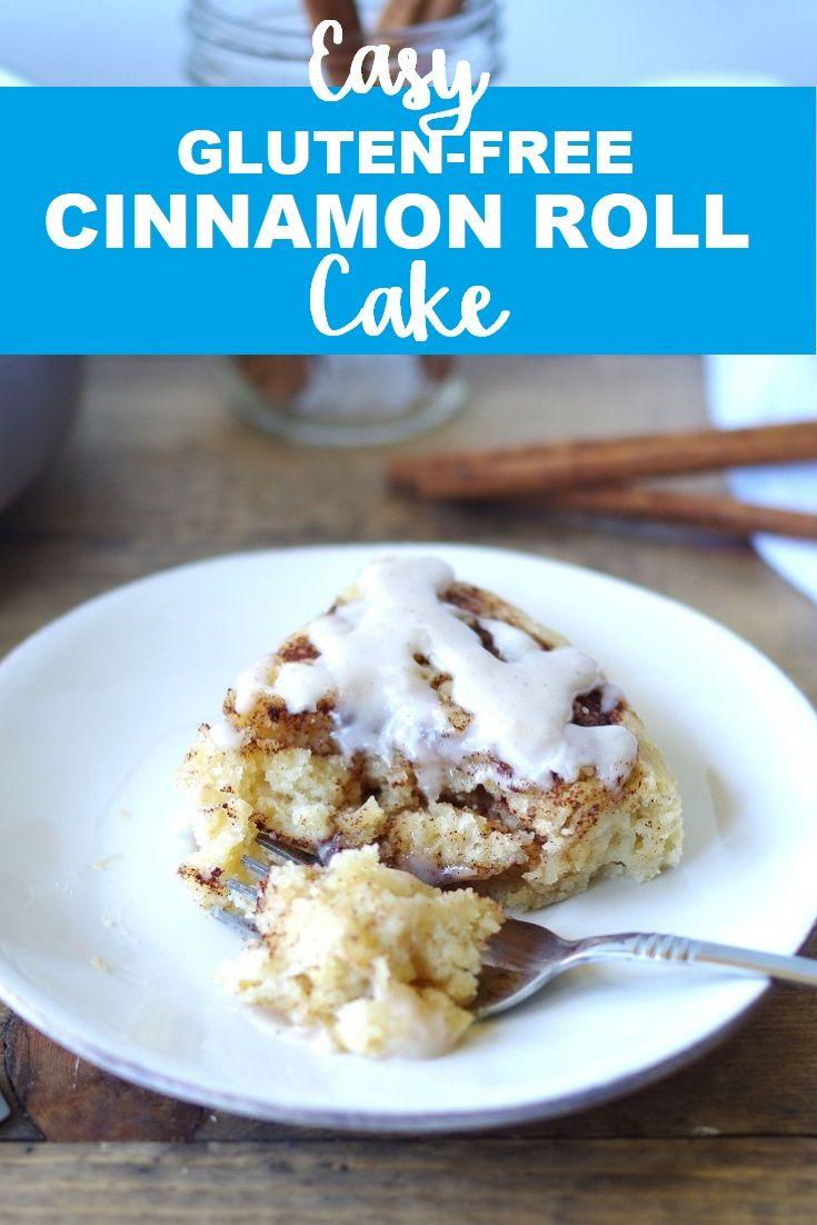 Gluten-Free Cinnamon Roll Cake #rollcake