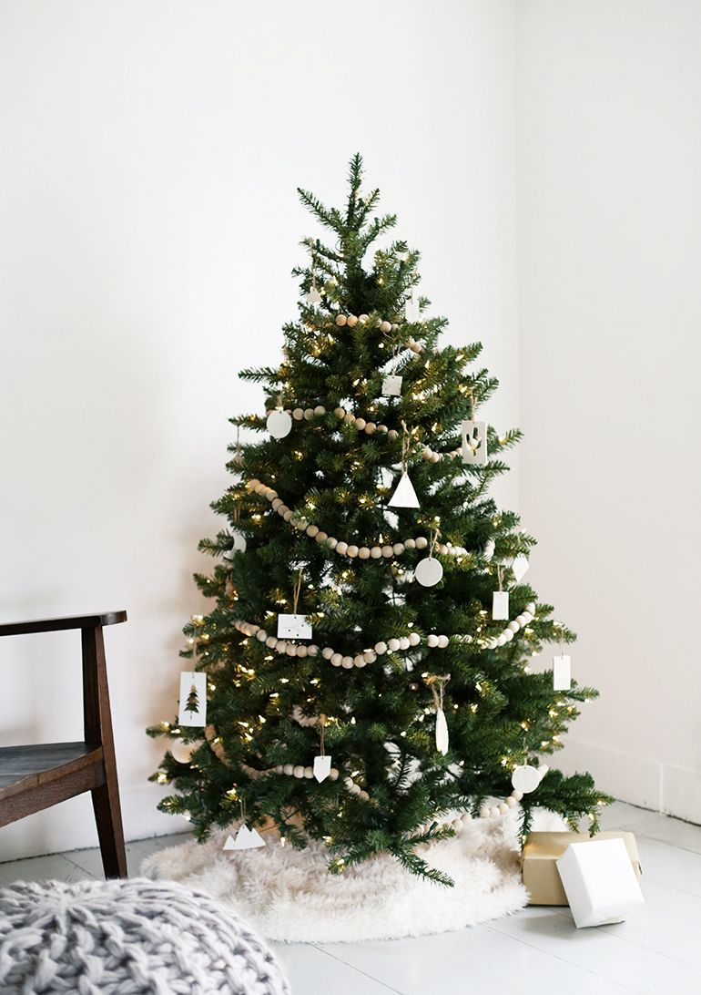 Minimal Christmas Tree The Merrythought Modern Christmas Tree Minimalist Christmas Tree Scandinavian Christmas Trees