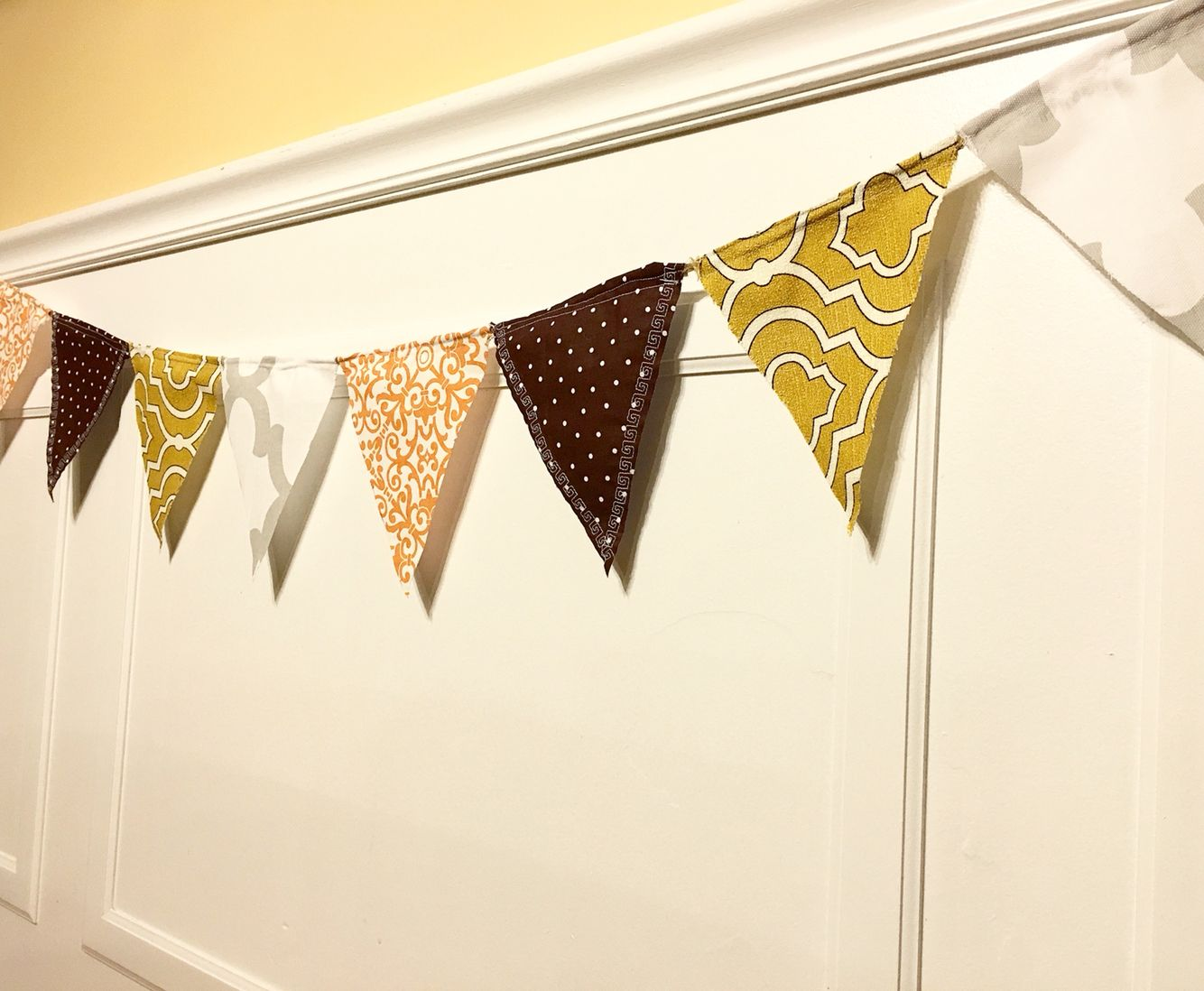 Fabric Pennant Banner DuD Designs Pinterest Pennant banners