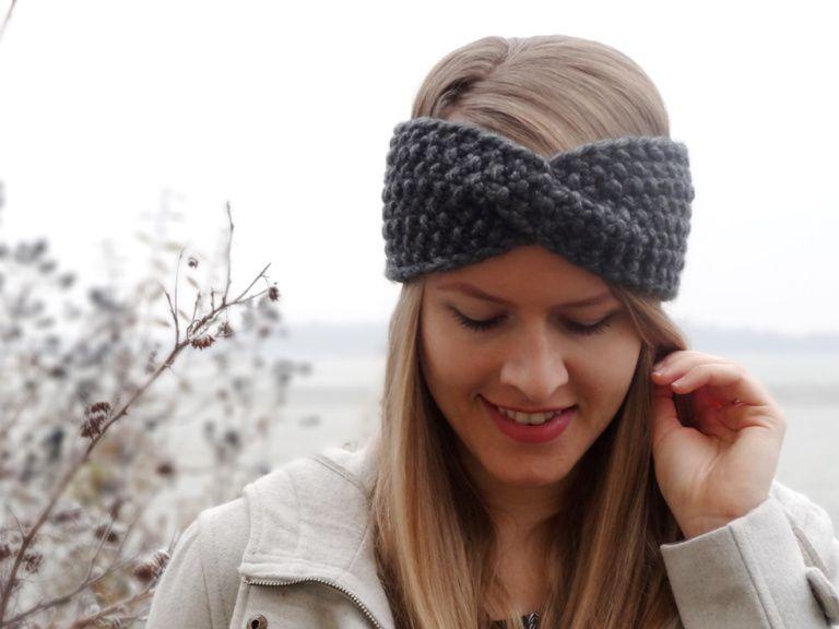 Anleitung: Twist-Stirnband mit Perlmuster stricken | stricken ...