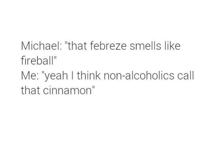 Smells Like Fireball Bahahaha Alcohol Fireball Cinnamon