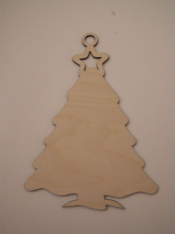 christmas tree ornament laser cut wood shapes ready to paint woodcraft christmas decorations wreaths door hangers home decor - Wooden Laser Cut Christmas Decorations