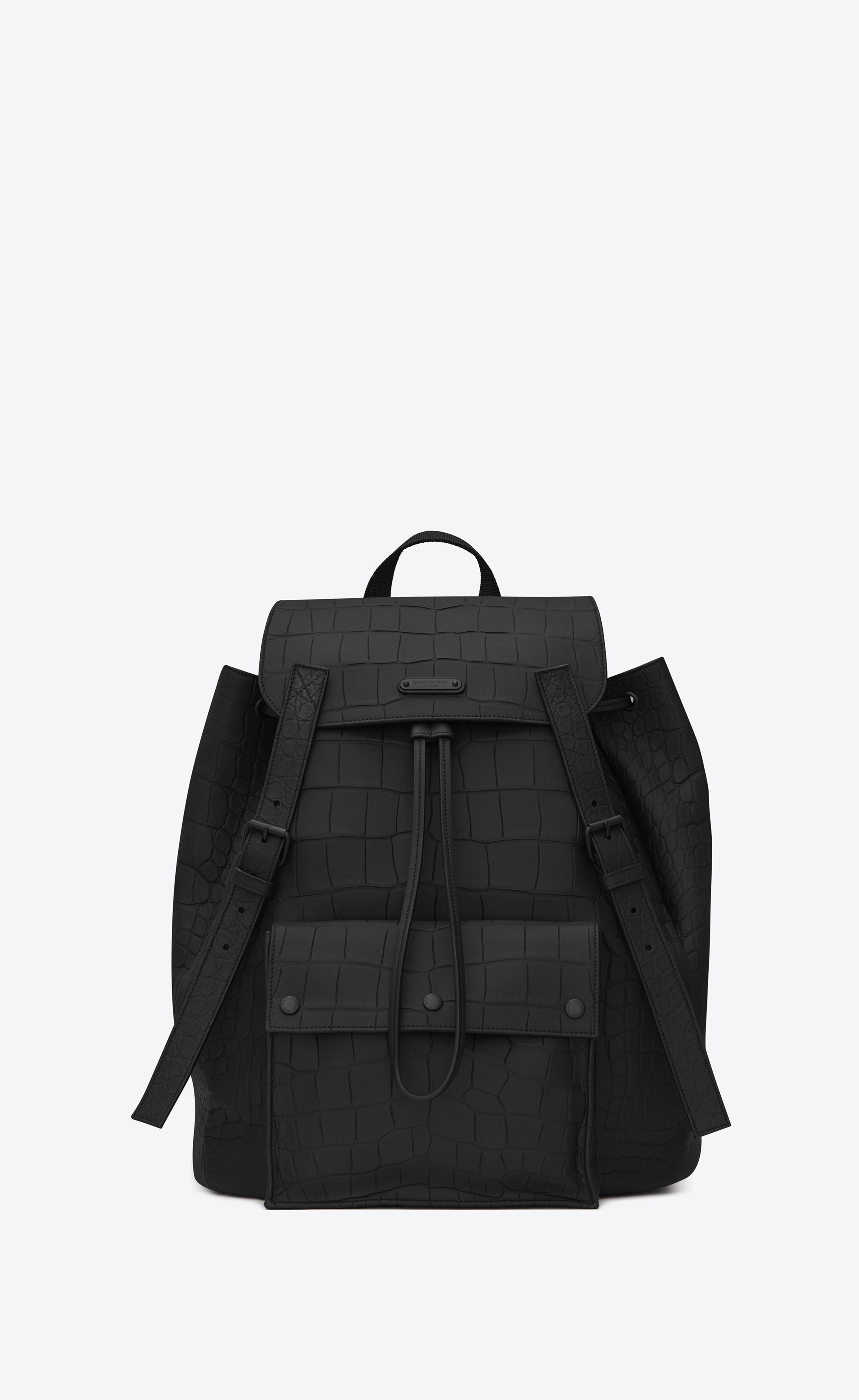 cf88abbba4 Saint Laurent Noe Saint Laurent Backpack In Black Crocodile