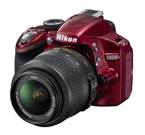 Nikon D3200 Digital SLR Camera with 18-55mm VR Lens Kit - Red (24.2MP) 3 inch LCD by Nikon, http://www.amazon.co.uk/dp/B007VLSR9M/ref=cm_sw_r_pi_dp_-wFtrb0TAX1E9