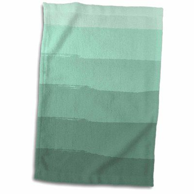 Symple Stuff Lansdown Mint Abstract Stripes Hand Towel Hand