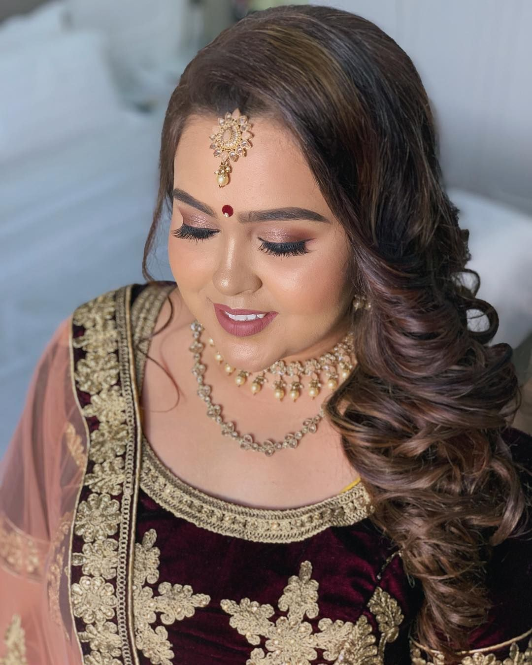 Mehala 92 On Her Wedding Reception Sptbridalhairandmakeup