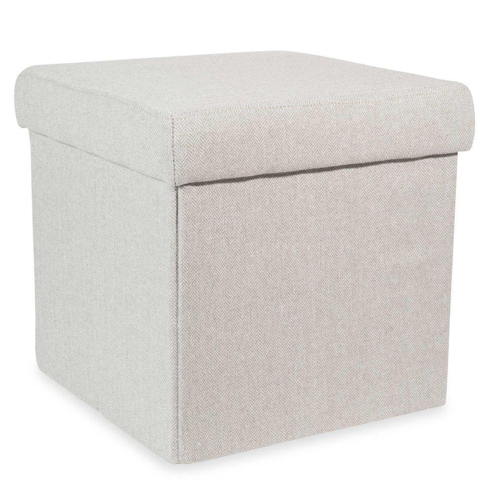 Pouf coffre pliable gris HEDMARK | Pouffe | Pinterest | Gris