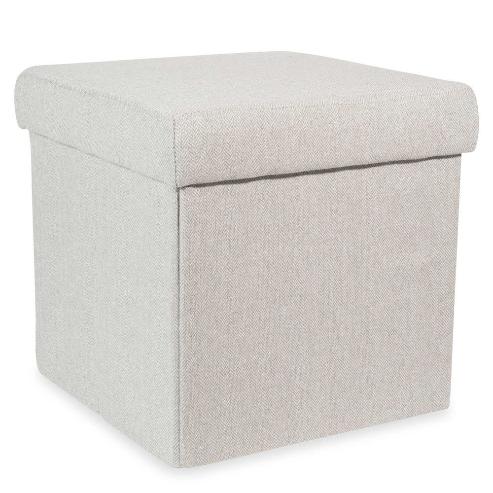 Puff gris plegable con almacenaje ... | cadeiras | Pinterest | Gris