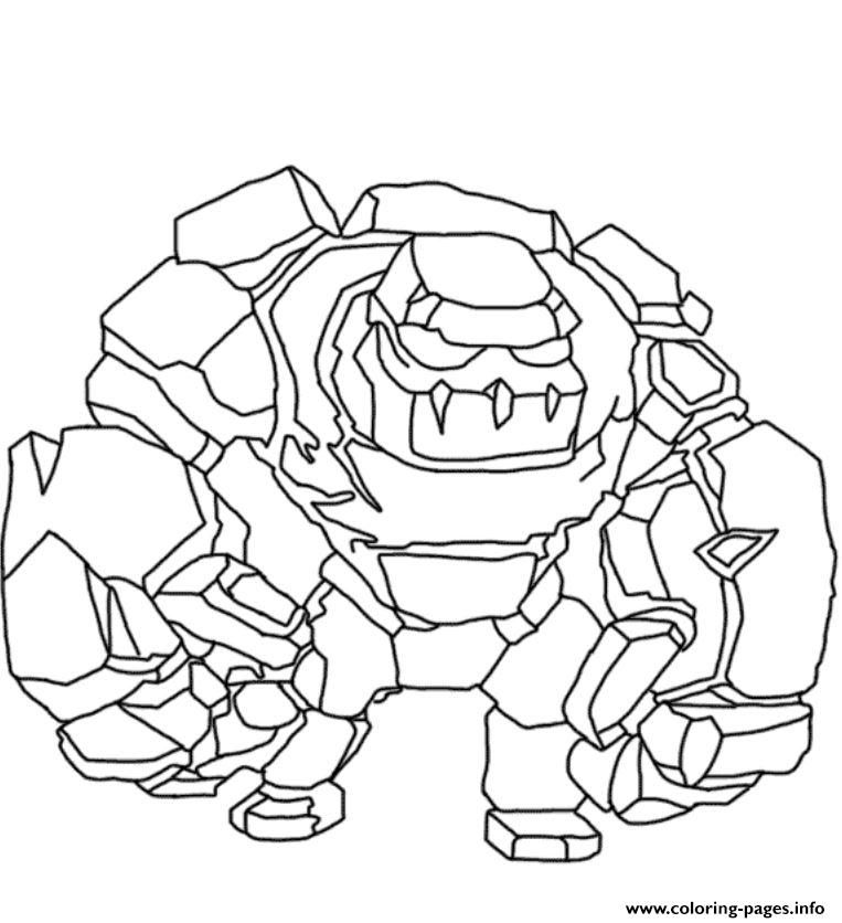 Print Golem Clash Of Clans Coloring Pages Coloring Pages Clash